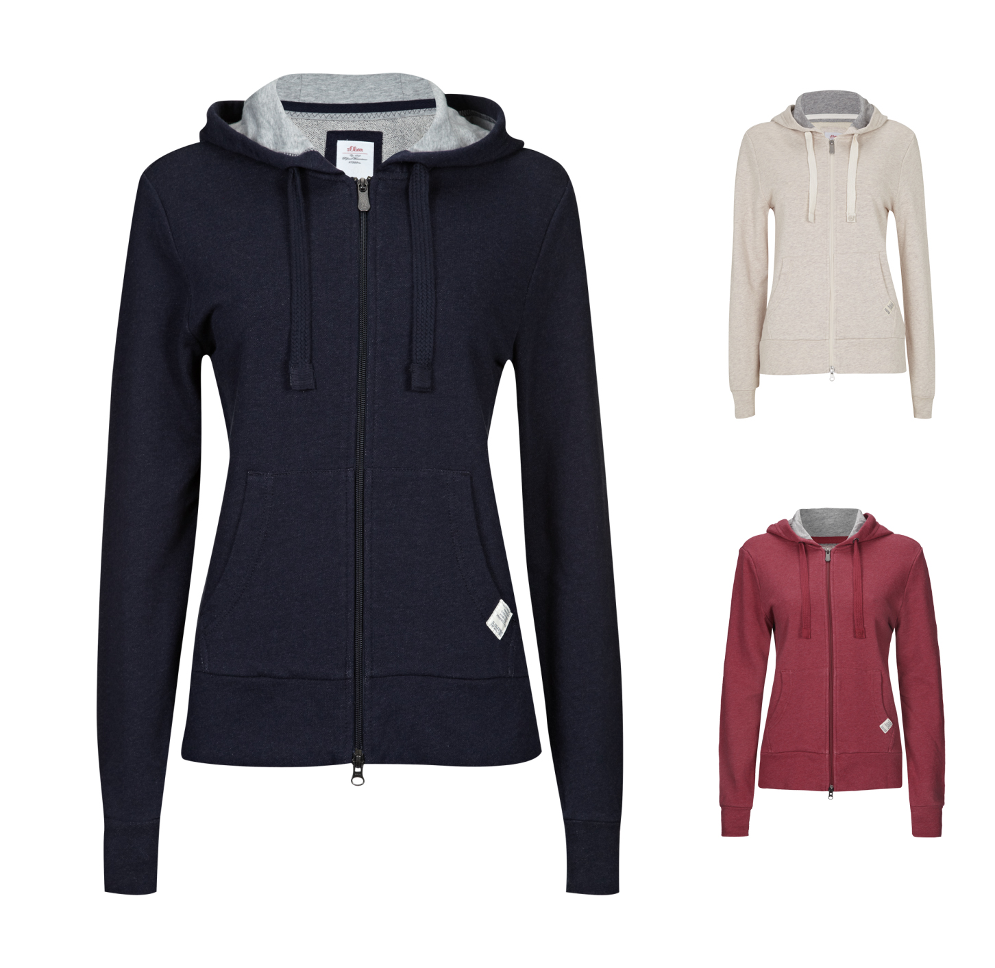 s oliver casual sweatjacke mit kapuze damen sweat neu ebay. Black Bedroom Furniture Sets. Home Design Ideas