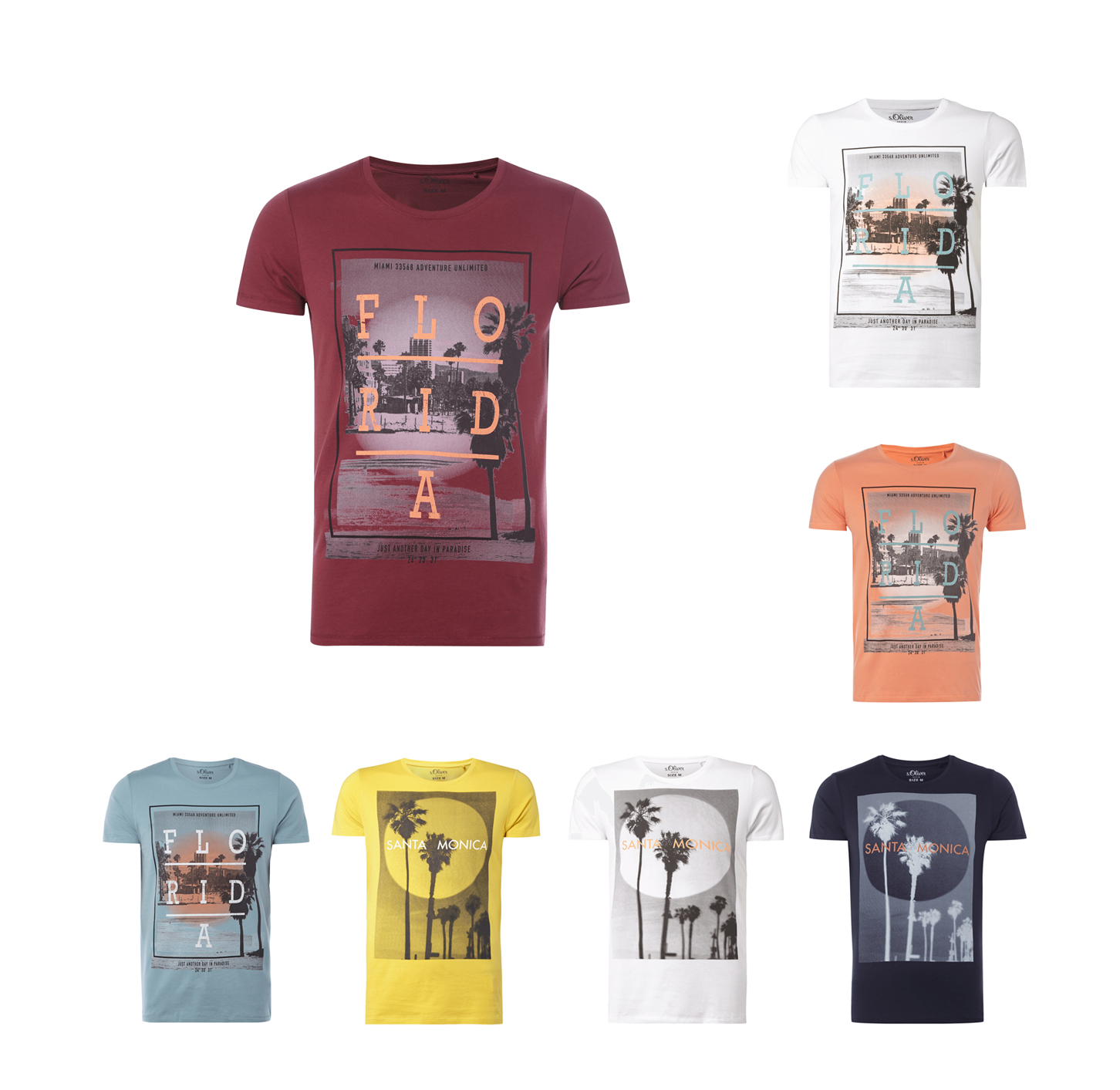 oliver t shirt mit foto print und message herren t shirt neu. Black Bedroom Furniture Sets. Home Design Ideas