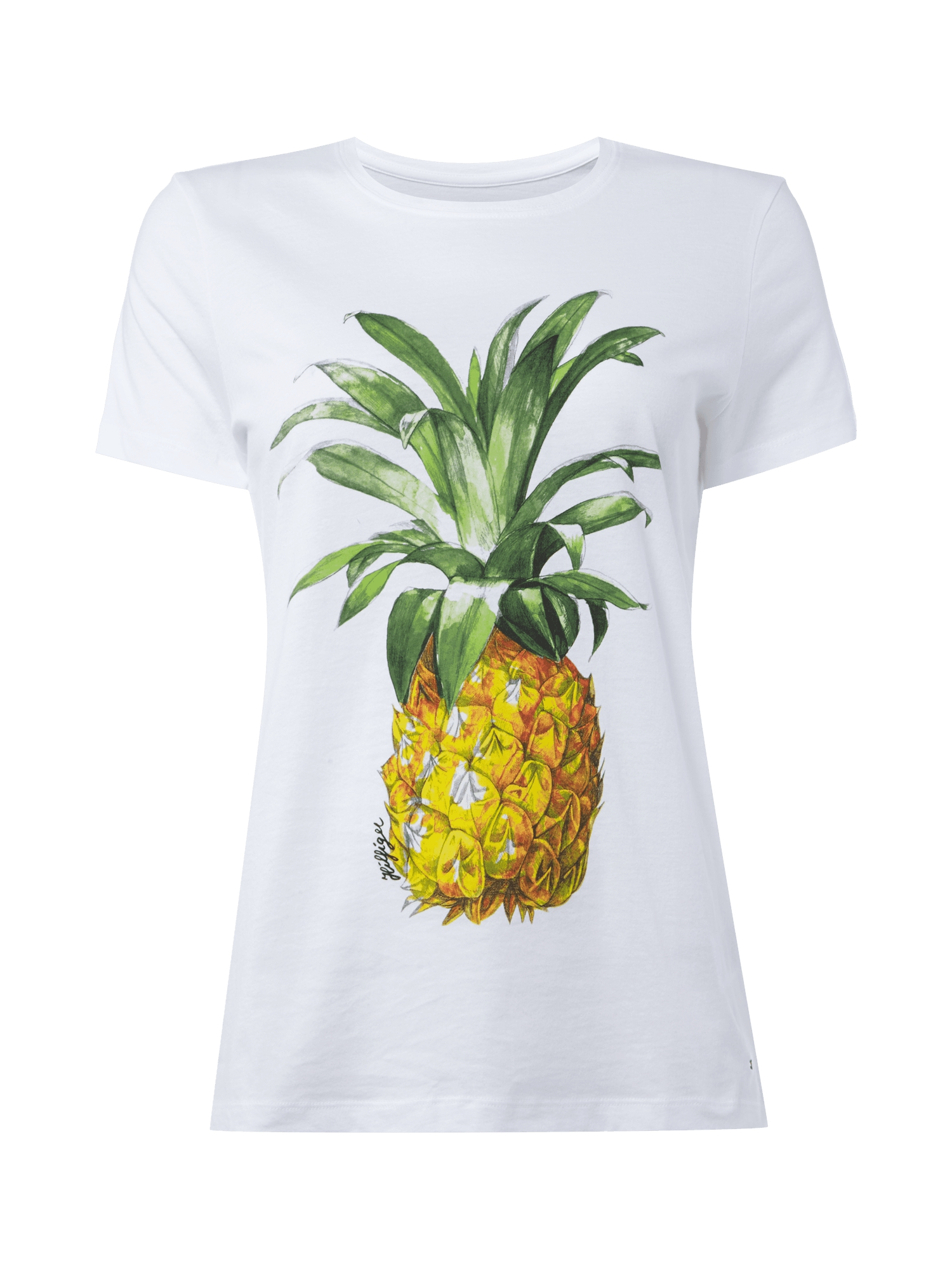 tommy hilfiger t shirt mit ananas print damen t shirt neu ebay. Black Bedroom Furniture Sets. Home Design Ideas
