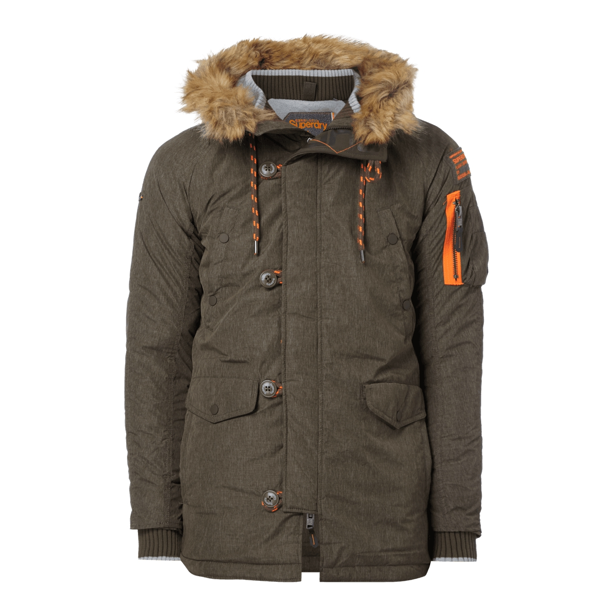 superdry parka winterjacke mit fleecefutter wattiert. Black Bedroom Furniture Sets. Home Design Ideas