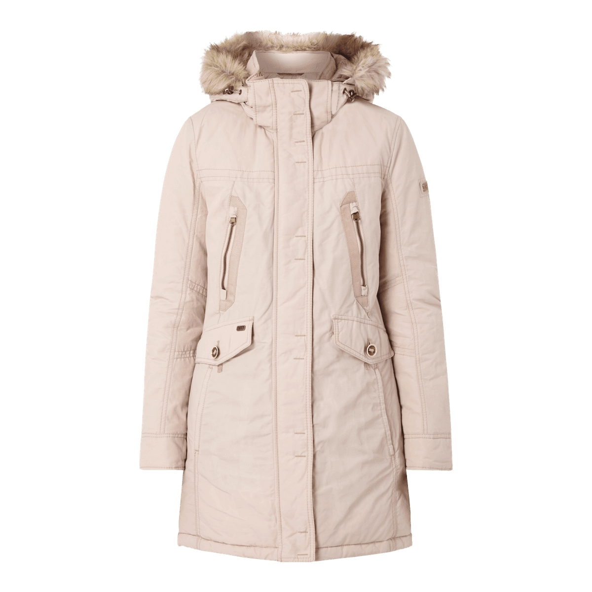 camel active parka mit abnehmbarer kapuze webpelz winter jacke damen mantel neu ebay. Black Bedroom Furniture Sets. Home Design Ideas