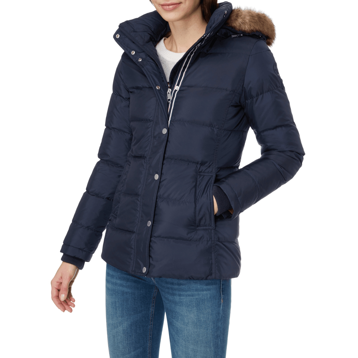 tommy hilfiger daunen jacke mit steppungen damen jacke neu. Black Bedroom Furniture Sets. Home Design Ideas